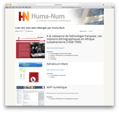 Annuaire des sites Web